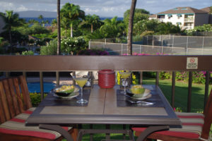 Breakfast on the lanai with beautiful ocean view
